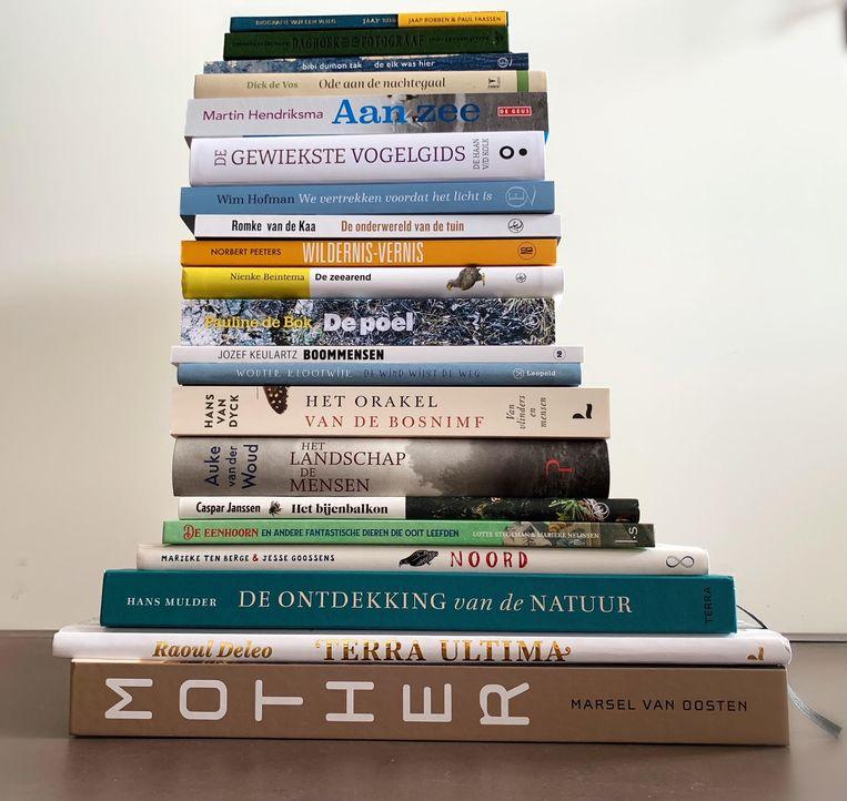 De 21 boeken van de longlist voor de Jan Wolkers Prijs 2021 Beeld