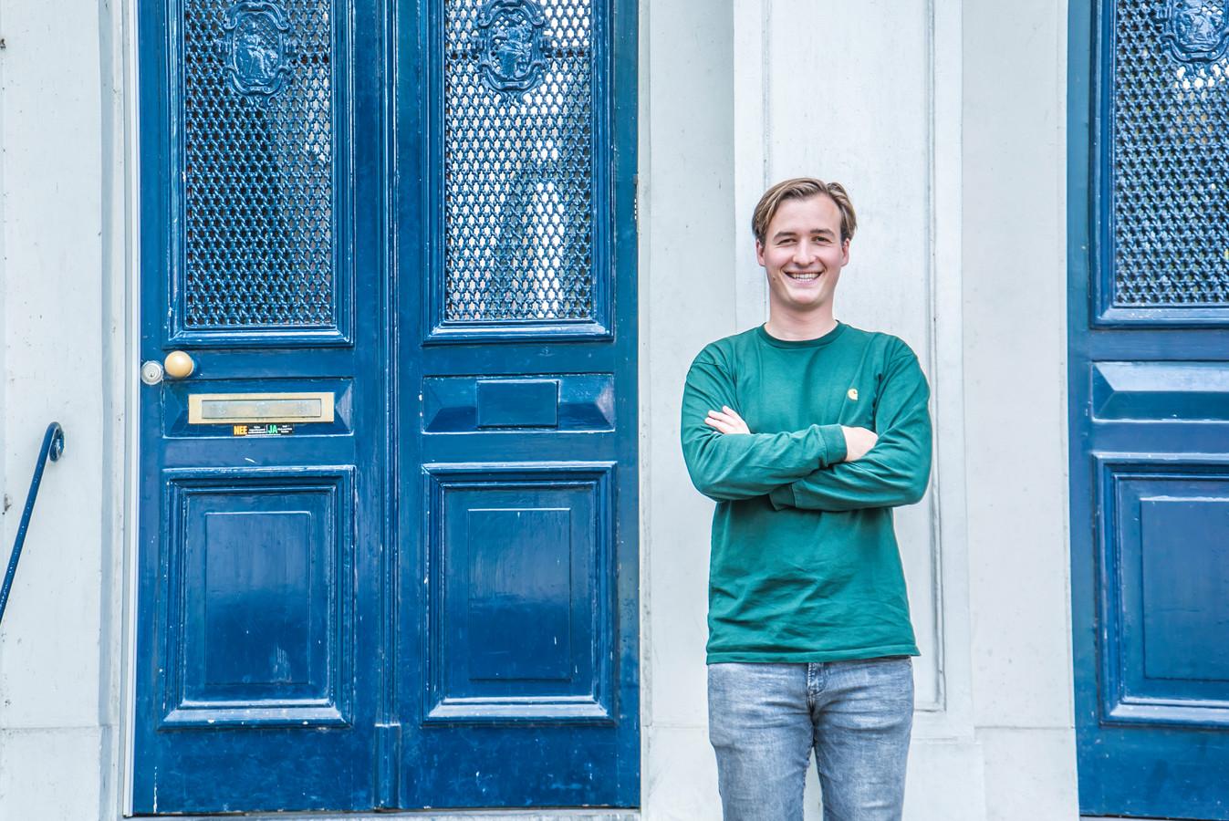 """Volgens Thijs de Jongh worden alle negatieve verhalen over studenten overdreven uitgelicht. ,,We doen ook goede dingen."""""""