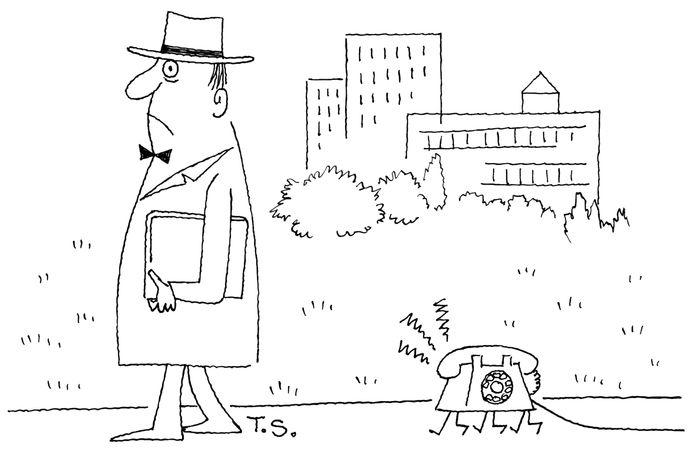 Cartoon van Ton Smits
