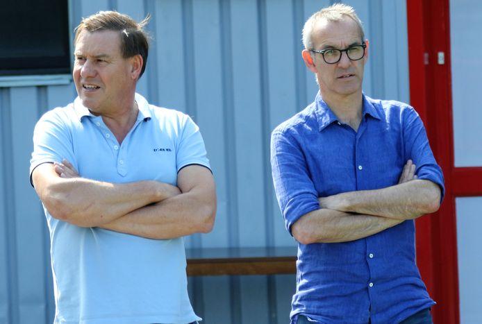 """Sportief directeur Rik Foulon (r.) met teammanager Claude Gezelle (l.): """"We gaven te veel doelpunten onnodig weg."""""""