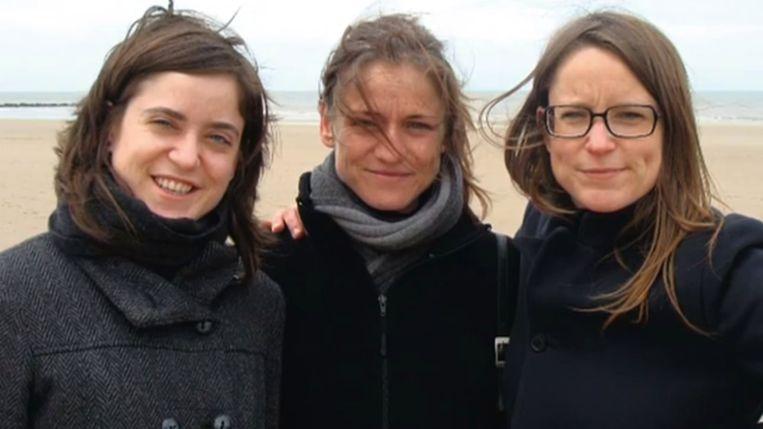 Lotte, Tine en Sofie Nys, enkele weken voor Tines dood. Beeld RV