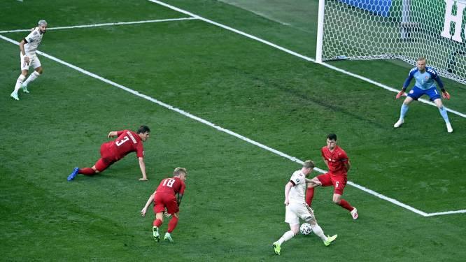 Daar is Kevin De Bruyne! En hoe: in zijn eerste tien EK-minuten loepzuivere assist, heerlijke 1-2 volgt
