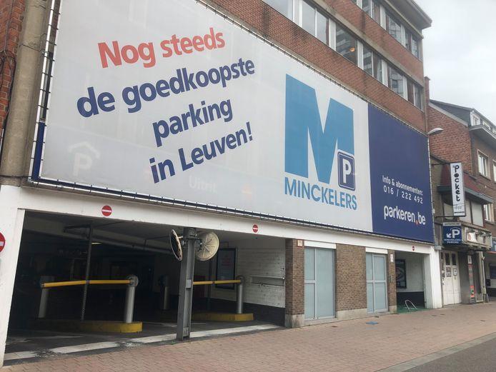 De Minckelersparking in Leuven.