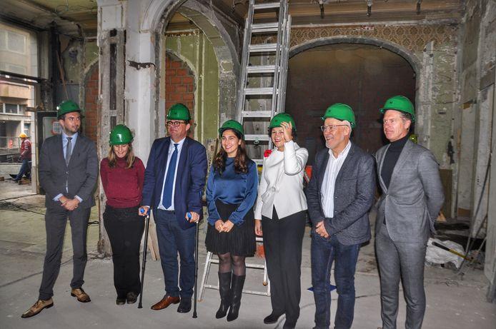 Vlaams minister Zuhal Demir kwam de werken donderdag bekijken