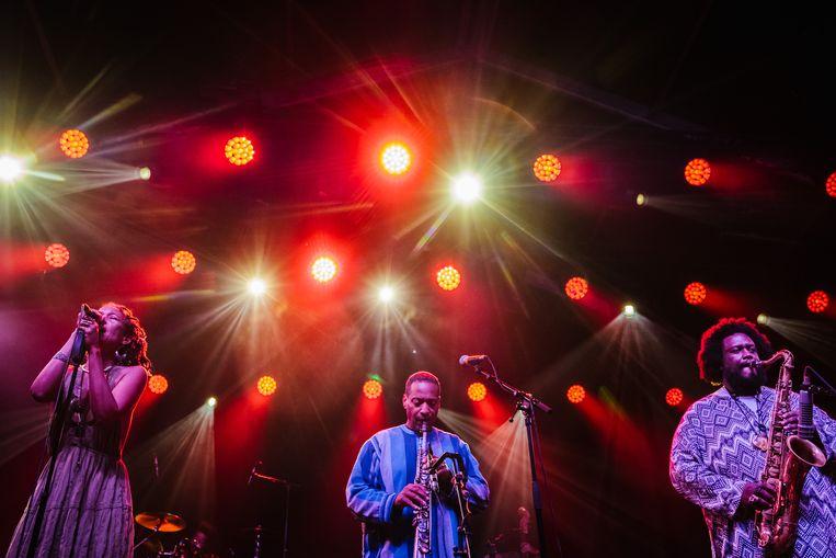 Kamasi Washington op Jazz Middelheim. Beeld Wouter Van Vooren