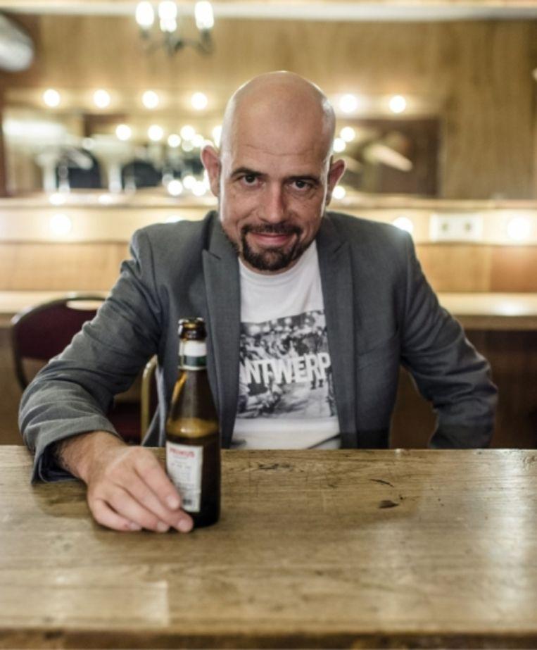 'Kris Strybos, alias Scale van de Antwerpse hiphopgroep Sint Andries MC's: 'Ik had ook in de gevangenis kunnen zitten, maar ik heb op tijd de knop omgedraaid.' Beeld
