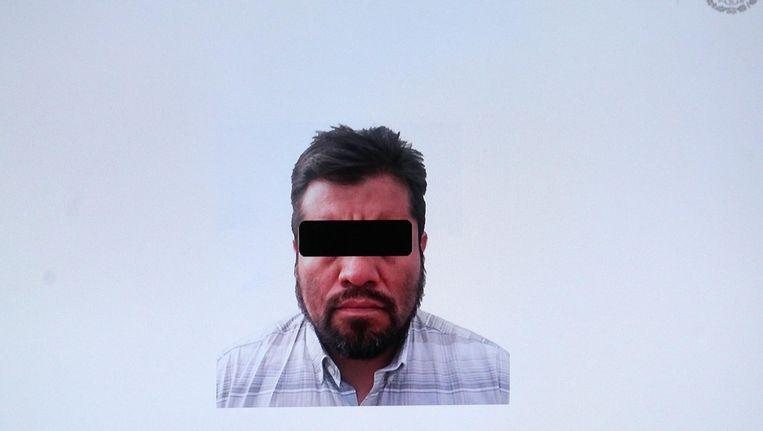 Een politiefoto van de Mexicaanse drugsleider Luis Reyes Enriquez. Beeld epa