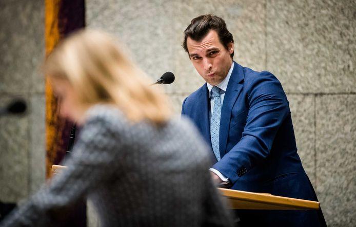Thierry Baudet (FvD) tijdens het vragenuur in de Tweede Kamer eerder deze maand.