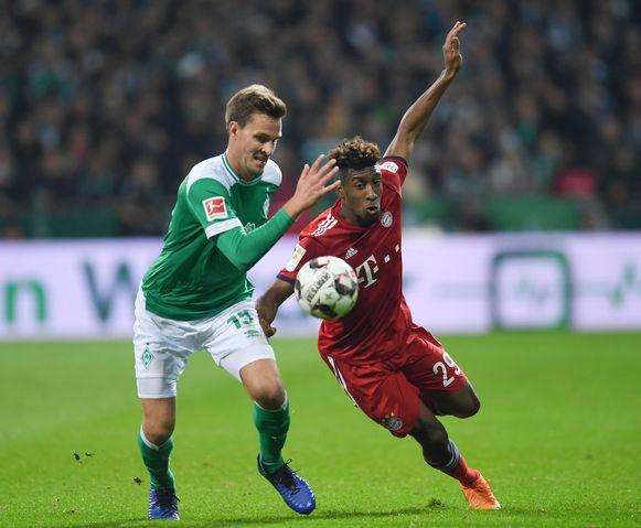 Coman maakte tegen Werder Bremen weer minuten.