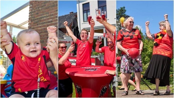 Van de allerkleinsten in de kinderopvang tot de rusthuisbewoners: Bierbeek kleurde woensdag helemaal rood voor de 'Red Challenge' van VTM Nieuws en hln.be.