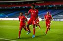 Kingsley Coman schoot Bayern vorig jaar naar de CL-titel.