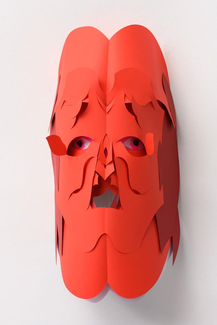 Masker van Karen Sargsyan. Foto Peter Cox