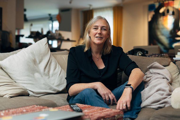 Emanuelle Verhagen, voorzitter Intersekse Vlaanderen: 'Ik heb drie dagen gehuild. Ik had het gevoel dat ze mijn lichaam hadden afgenomen.' Beeld Illias Teirlinck