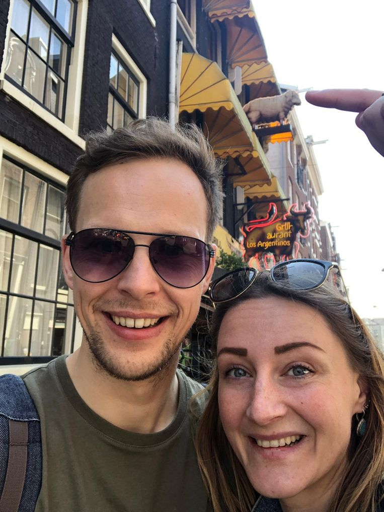 Tessa Brekveld en haar vriend Frank. Beeld -