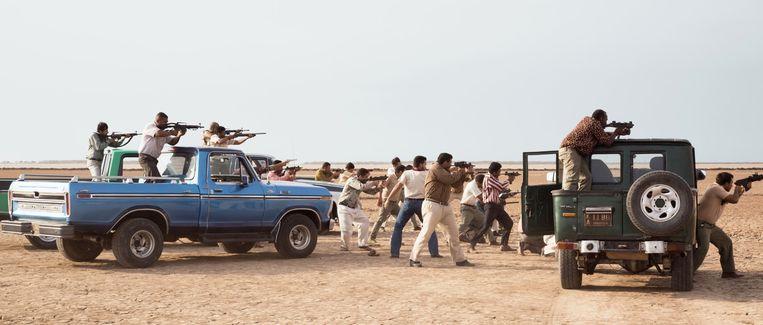 Filmbeeld uit 'Pájaros de verano'.  Beeld