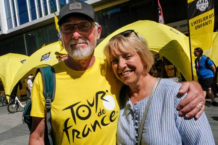 Amerikaanse toerist Doug Kundel en zijn vrouw komen speciaal van New York naar hier voor de Tour.