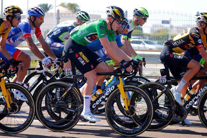 David Dekker in de groene puntentrui.