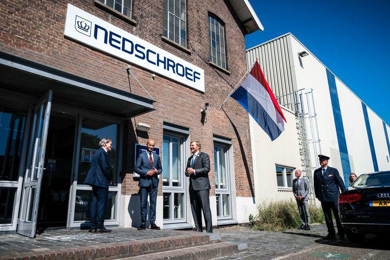 Koning Willem-Alexander bezoekt in juni het bedrijf Nedschroef in Helmond, dat onder meer machines en gereedschappen maakt waarmee de auto-industrie staal vervormt.  Beeld ANP