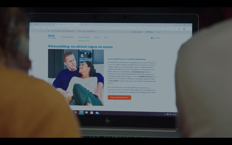 Kijkers van de telenovelle 'Lisa' kregen plots een grote reclame van Dela te zien. Beeld VTM