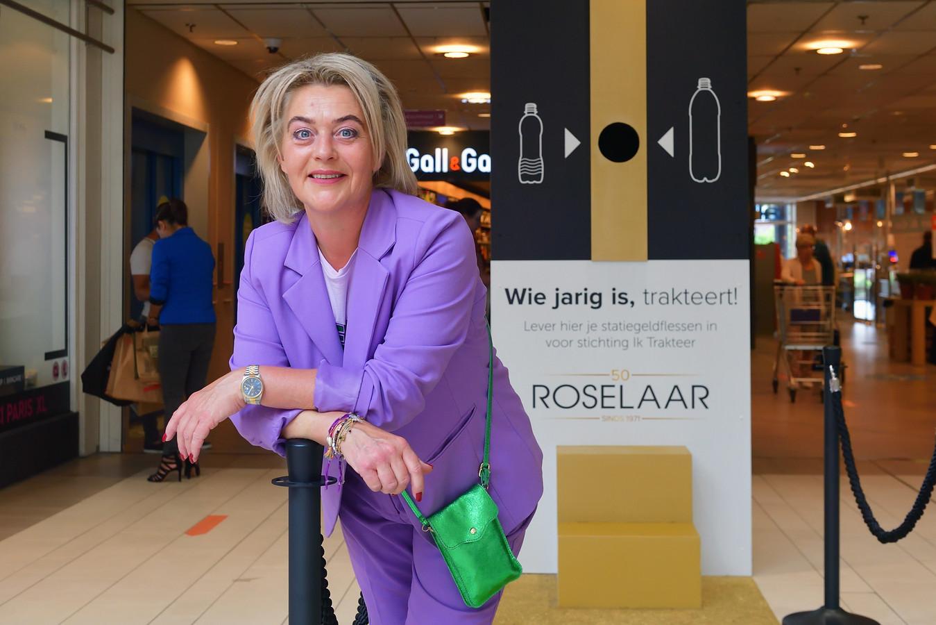 Katrien van Overveld is met haar stichting Ik Trakteer uitgekozen voor een inzamelingsactie door de jarige Roselaar/.