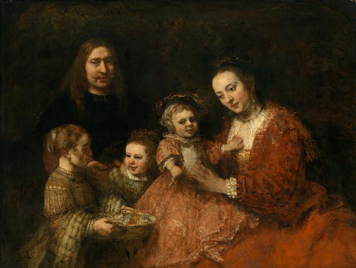 Het familieportret van Rembrandt waarvoor Hennie Marks een gezin zoekt dat model wil staan. FOTO CLAUS CORDES