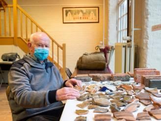 Heemkundige Jos (78) exposeert vondsten uit slib kasteelvijver