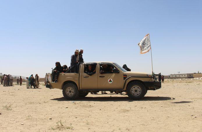 Taliban-strijders in Ghazni, ten zuidwesten van Kaboel.