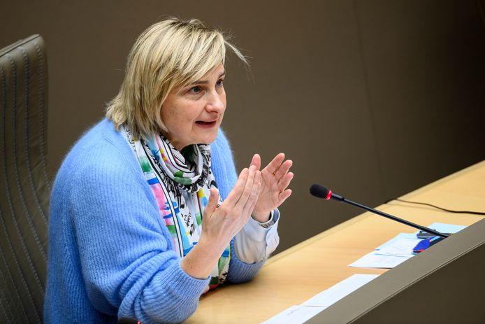 Vlaams minister van Werk Hilde Crevits (CD&V).