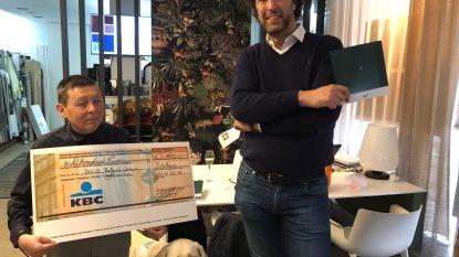 Champagnebar brengt 800 euro op voor Belgisch Centrum voor Geleidehonden