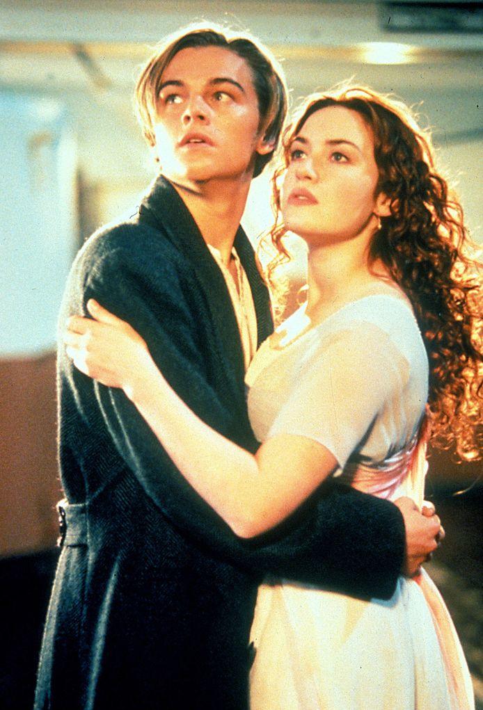 Leonardo DiCaprio en Kate Winslet in de filmversie van Titanic uit 1997.