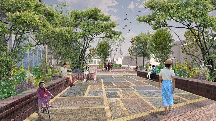 De Tuin van Delft wordt de nieuwe attractie op het Houttuinenplein.
