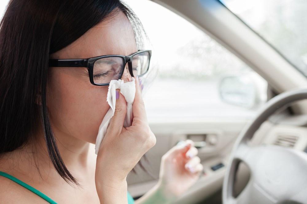 Rijden met hooikoorts kan gevaarlijk zijn doordat je tijdens het niezen vaak lange tijd je ogen gesloten houdt.