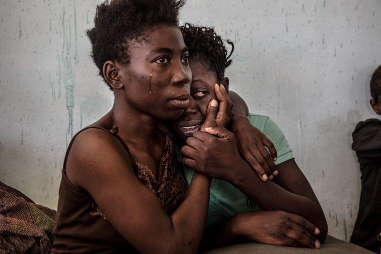 Afrikaanse vluchtelingen in Libië. Beeld REUTERS