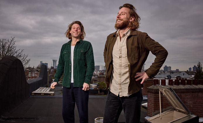 Tweeling Kevin (rechts) en Marvin Groen.