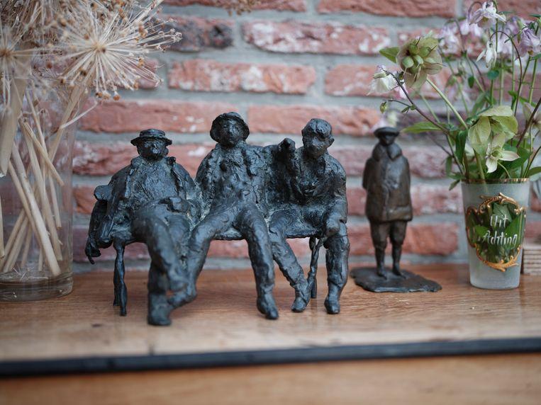 De Titaantjes, een kleine versie van het beeld van Hans Bayens in het Amsterdamse Oosterpark. Beeld Erik Smits