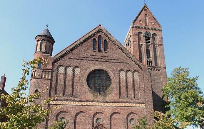 De kerk aan de Raamstraat heeft een Davidster.