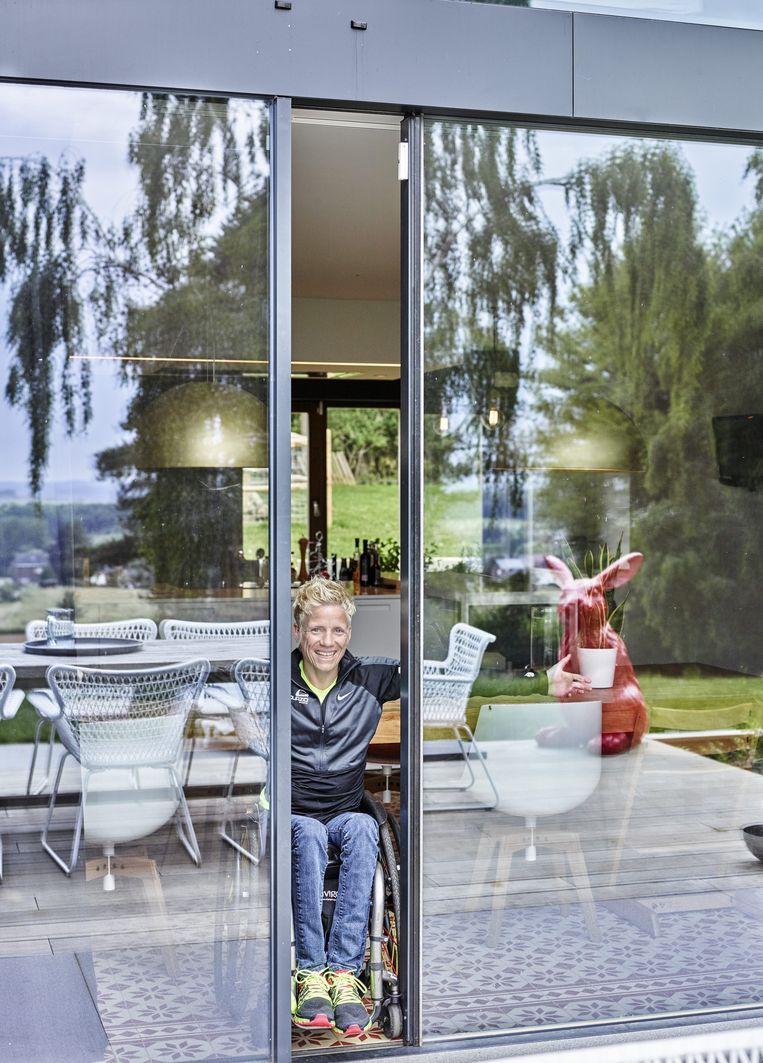 Marieke Vervoort in het interviewprogramma 'Het Huis' van Eric Goens. Beeld VRT - Paul Van Rooy