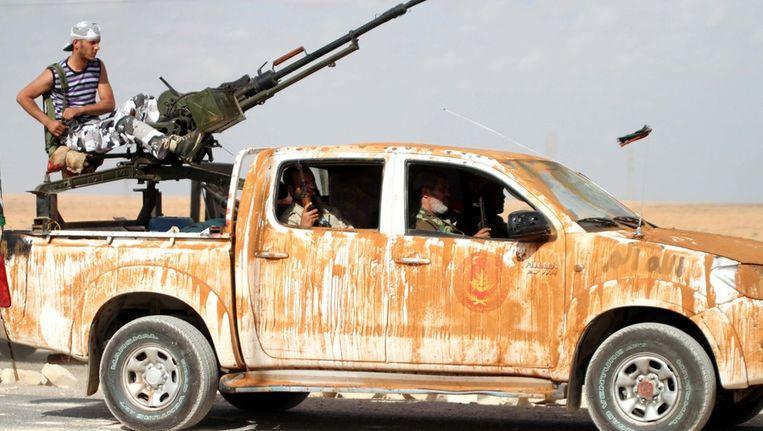 Stijders van de regering bij Bani Walid. Beeld epa