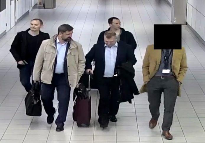 De Russen bij aankomst