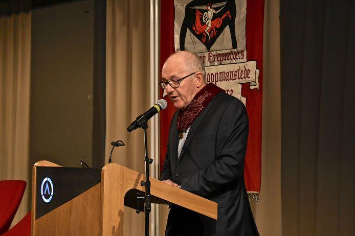 Hoofdman Eddy Brouckaert aan het woord.