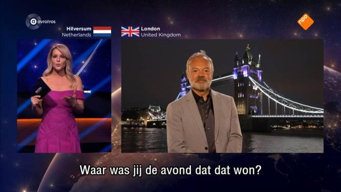 """Graham Norton denkt niet meer live te zijn na gesprek met Chantal Janzen: """"Dat was awkward"""""""