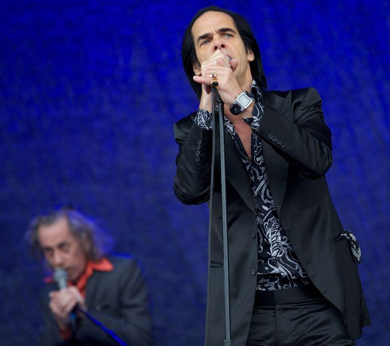 Nick Cave op Glastonbury. Beeld AFP