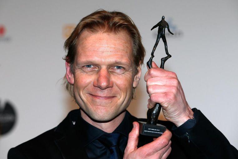 Tv-presentator Menno Bentveld won in 2015 een prijs voor zijn documentairereeks De Muur. Beeld anp