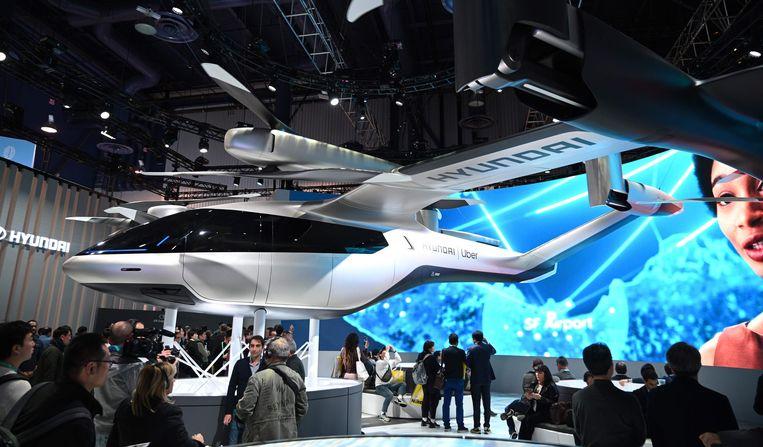 Hyundai gaat voor Uber deze vliegende taxi's ontwikkelen.