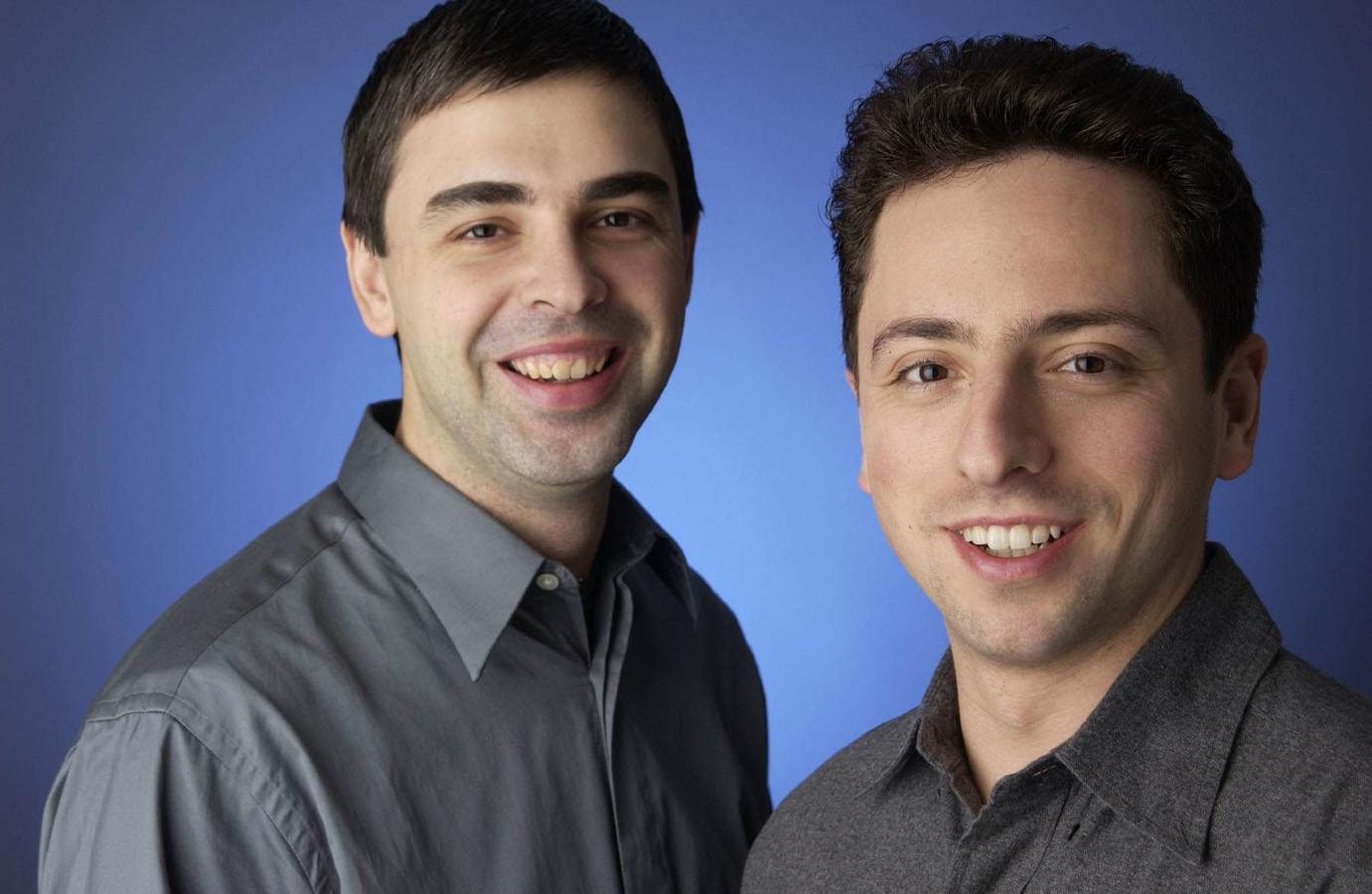 Google-oprichters Larry Page en Sergei Brin