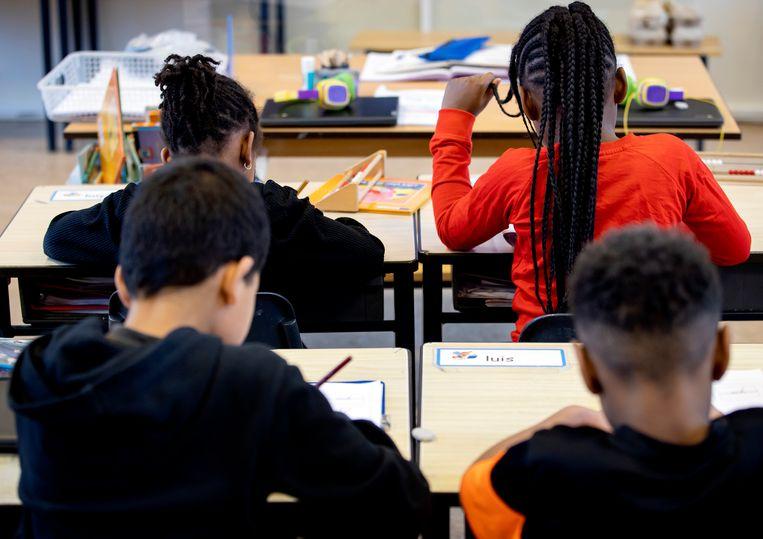 Vanaf maandag mogen basisschoolkinderen weer fysiek onderwijs volgen. Beeld Hollandse Hoogte /  ANP