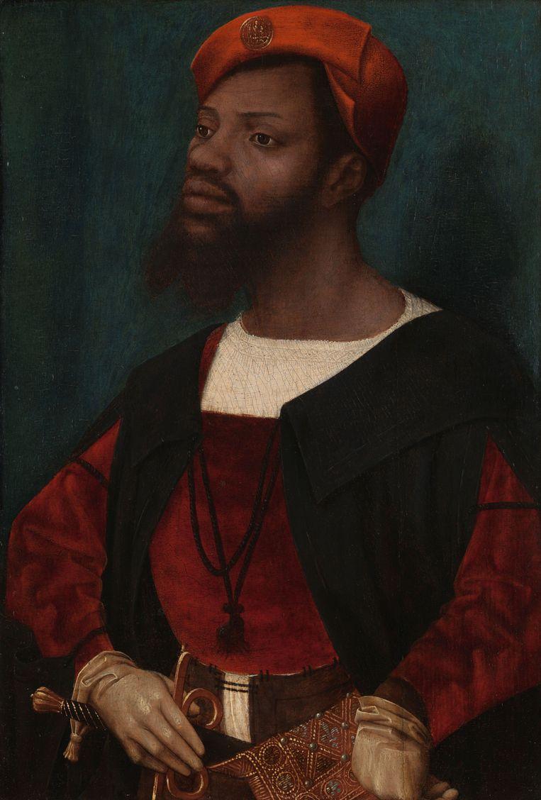 Jan Jansz Mostaert, Portrait of an African Man (Christophle le More?), ca. 1525 - ca. 1530.  Beeld Rijksmuseum