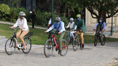 Fietsers en wandelaars boven op Autoloze Zondag in steden en gemeenten: ook koningshuis op de fiets