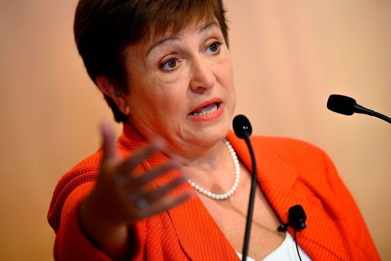 Kristalina Georgieva staat sinds begin oktober 2019 aan het hoofd van het IMF.