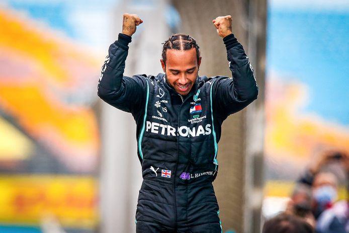 Lewis Hamilton viert zijn zevende wereldtitel in de Formule 1.
